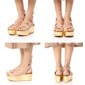 See By Chloe Lilly Wedge Lace-Up Sandal